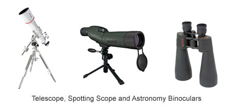Telescope, Spotting Scope and Astronomical Binoculars