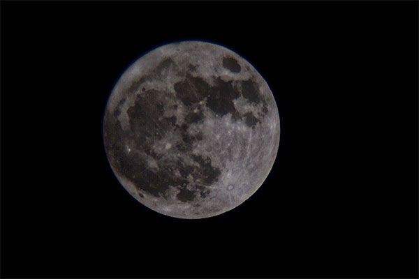 The Moon viewed by the Avalon 60mm Venture HD Spotting Scope